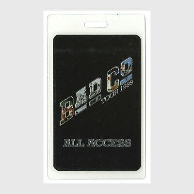 Bad Company authentic 1999 concert tour Laminated Backstage Pass