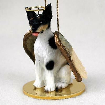 RAT TERRIER ANGEL DOG CHRISTMAS ORNAMENT HOLIDAY Figurine Statue