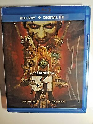 31 AUTOGRAPHED by Rob Zombie Sealed Fanbacked Copy Blu-Ray + Digital HD Signed
