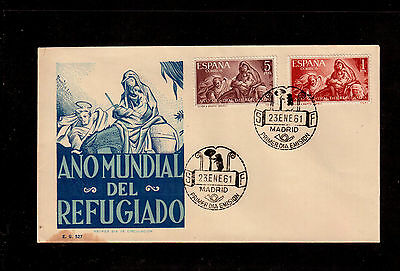 Spain 1961 First Day Cover #969/70, World Refugee Year !!