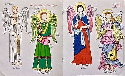 Angels Through the Ages Paper Doll, By Tom Tierney, Mag. Color Plate, 1995