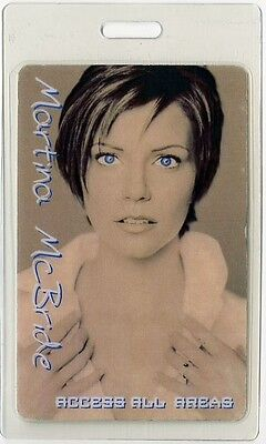 Martina McBride authentic 2000's concert tour Laminated Backstage Pass