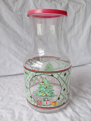 Christmas Pitcher with Lid - Juice, Egg Nog, Punch