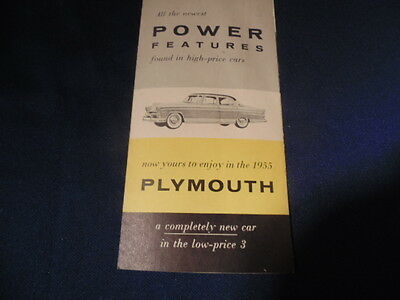 Brochure 1955 Plymouth,power Features