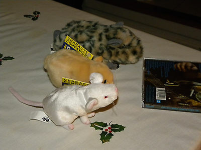 6 lot of plush stuffed animal mouse mice hamster guinea pig doll new NWT toy