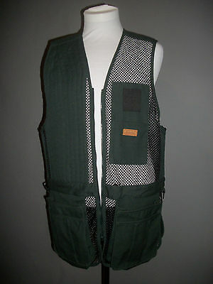 Cabela's Men's Mesh Shooting Vest Size Large Regular Right Hand Green