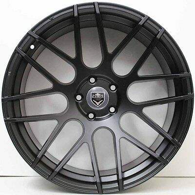 20inch GENUINE MADINA BLACK ALLOY WHEELS WIDE PACK SUIT FORD MUSTANG & FLACON