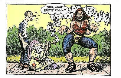R. Crumb Mr. Natural Devil Girl and Flakey Foont Postcard