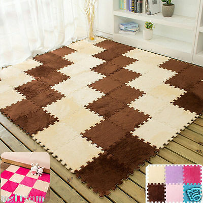 Patchwork/Non Slip Absorbent Bathroom Mat Kitchen Carpet Rug Splice Teppiche NEU
