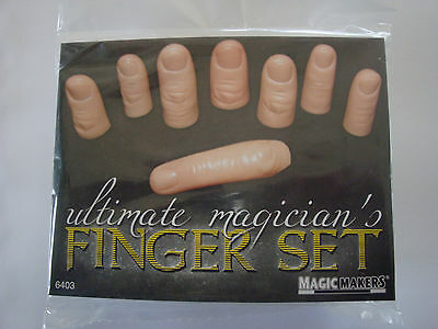 Ultimate Magician's Finger Set By Magic Makers 8 Finger Thumb Tips Tricks Vanish