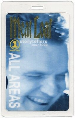 Meat Loaf authentic 1999 concert tour Laminated Backstage Pass