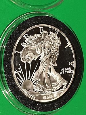 Walking Liberty Sunshine Mint Idaho 1 Troy Oz .999 Fine Silver Coin Round Proof