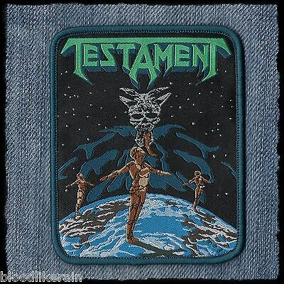 Testament Dark Roots Of Thrash The Legacy New Order woven patch aufnäher blue