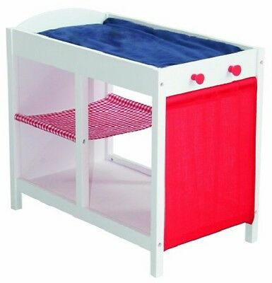 Dolls Changing Station / Table / Storage Unit - Teddy Motif - Roba 98839 - New