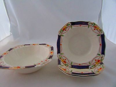 Alfred Meakin Osiris Serving Bowl &fruit Bowls Solway Decor Rd.no. 762046