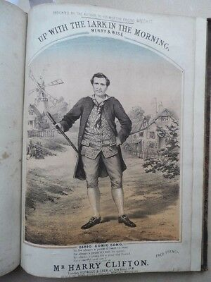 Up With The Lark In The Morning - Harry Clifton - circa 1870 book of songs