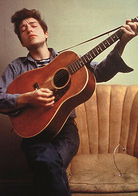 Bob Dylan Young Bob with Guitar on Armchair Poster  23.5 x 33 UK Import Color