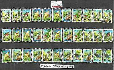 Fiji Provisional Overprint Surcharged Bird Stamps From 2006 - 2014 (01.073) Mnh