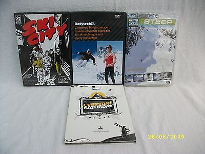 SKIING JOB LOT COLLECTION OF DVD's