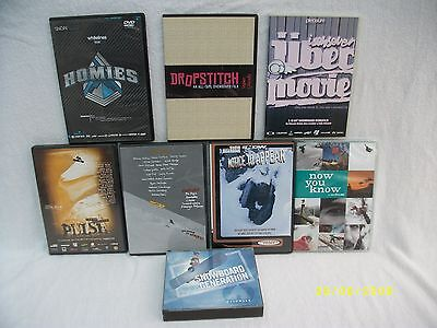 SNOWBOARDING JOB LOT COLLECTION OF DVD's & CD