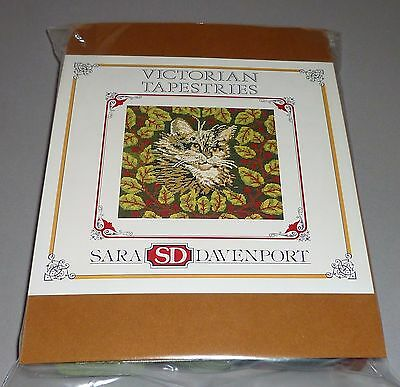 SARA DAVENPORT TABBY CAT 'OLIVER' NEEDLEPOINT TAPESTRY KIT with APPLETON WOOLS