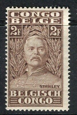 BELGIUM CONGO;  1928 early H.M.Stanley issue Mint hinged 2Fr. value