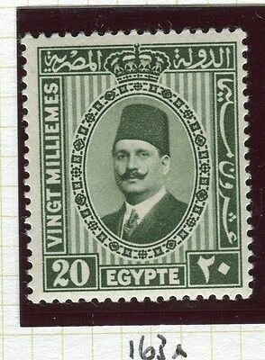 EGYPT;  1927-34 King Fuad I , issue fine Mint hinged 20m. value, shade
