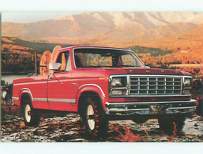 Unused 1980 postcard ad FORD RANGER FOUR-WHEEL-DRIVE PICKUP TRUCK k8981