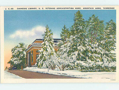 Unused Linen LIBRARY SCENE Mountain Home Tennessee TN hs2196