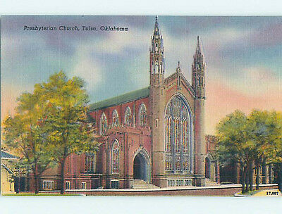 Unused Linen CHURCH SCENE Tulsa Oklahoma OK hs7342
