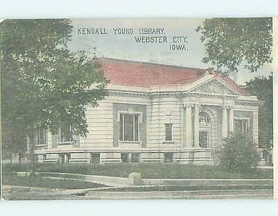 Divided Back LIBRARY SCENE Webster City Iowa IA hs2908