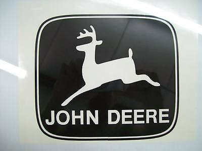 "(2) John Deere Decals, Stickers 12.5"" Wide BIG & BEST! Black"