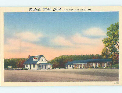 Unused Linen HUSKIES MOTOR COURT MOTEL Knoxville Tennessee TN M6050