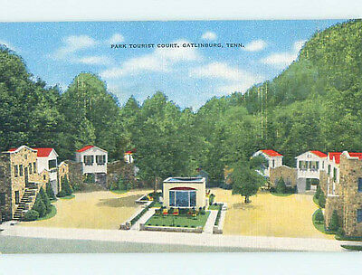 Unused Linen PARK TOURIST COURT MOTEL Gatlinburg Tennessee TN M5668-12
