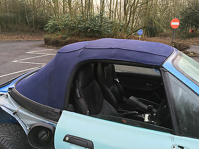 Bmw Z3 E36/7 Blue Mohair Roof In Good Condition - Soft Top With Frame
