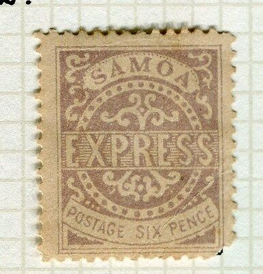 SAMOA;  1877 early classic issue P 12.5 Mint unused 6d. value