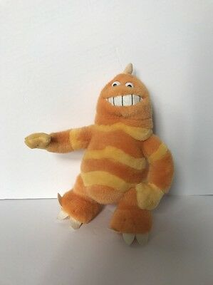 "Orange Monster Inc George Sanderson Stuffed Animal 9"" Disney Toy  Plush"