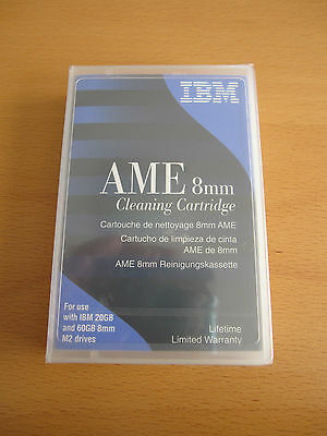 NEW ORIGINAL IBM AME 8 mm Cleaning Cartrigde 20 / 60 Gb M2 Drives 35L1409 SEALED