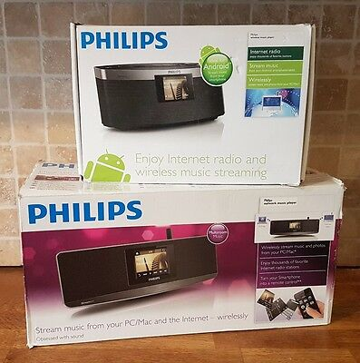 Internet wifi radios philips streamium NP3300 & NP3900/12 Android