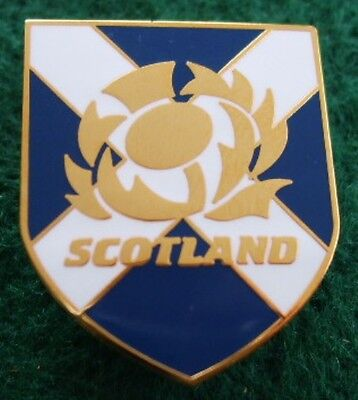 Scotland Rugby Thistle Shield 1 inch Large Pin Badge