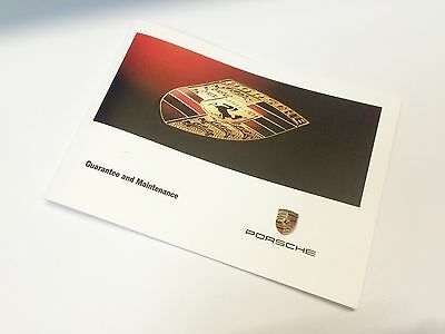 Porsche 911 996 Carrera & 986 Boxster 2000 Service Guarantee Maintenance Book