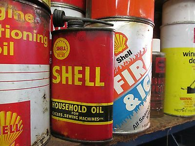 Early Original Shell Funnel Top Household Oil Can