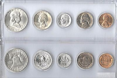 1951-P U.S. Mint Set - 5 Brilliant Uncirculated coins in Whitman plastic holder