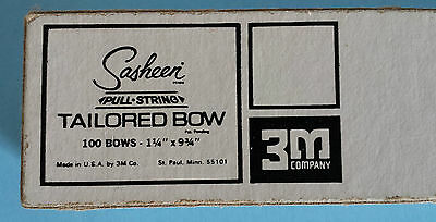 """3M Sasheen String-Pull Vintage Tailored Bows Pastel Yellow 1 3/4"""" Approx. 80 cnt"""