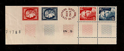 FRANCE 1949 #615a CENTENARY FRENCH POSTAGE STAMPS F VF NH SCOTT 2008 $15 !!