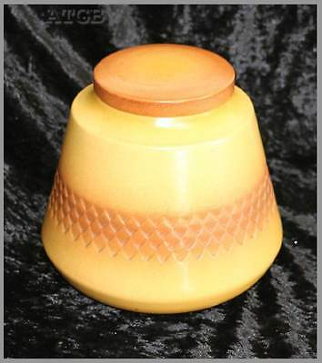 Vintage 1960s Diana Nefertiti Australian pottery huge biscuit barrel cookie jar
