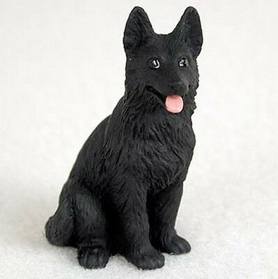 GERMAN SHEPHERD (BLACK) TINY ONES DOG Figurine Statue Pet Lovers Gift Resin