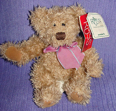 "Russ Harlington Bears From The Past W/paper Tags 7"" Bear 100284 Handmade ~ Ac"