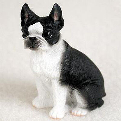 BOSTON TERRIER TINY ONES DOG Figurine Statue Pet Lovers Gift Resin