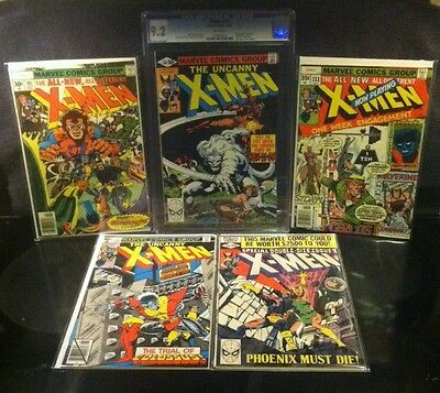 Uncanny X-Men Lot 107 111 122 137 & 140 CGC 9.2 Keys Issues 1st Star Jammers